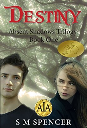 YA paranormal trilogy—Absent Shadows book 1